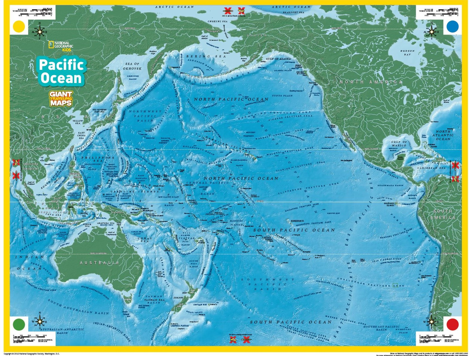 THE GIANT TRAVELING MAP OF THE PACIFIC OCEAN Alabama Geographic - Us ocean map